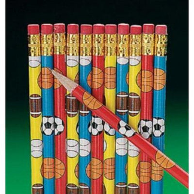 Sports Themed Pencils Party Favors (12) - Party Zone USA