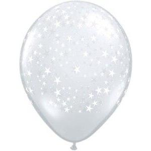 Stars-A-Round Clear Balloons (5) - Party Zone USA
