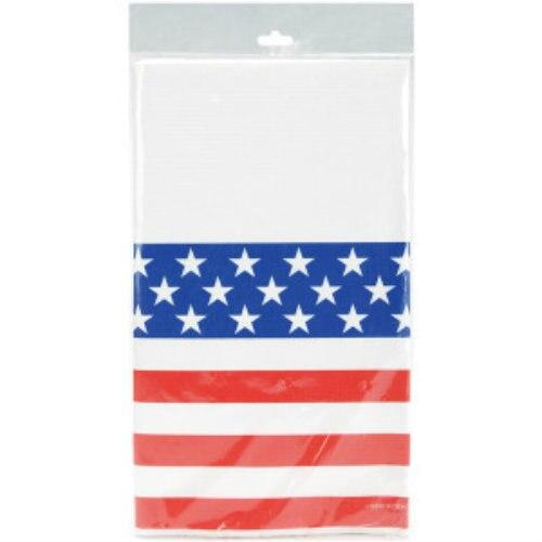 Stars & Stripes Table Cover - Party Zone USA