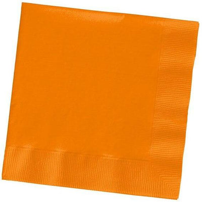 Sunkissed Orange Luncheon Napkins (50) - Party Zone USA