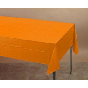 Sunkissed Orange Plastic Table Cover - Party Zone USA