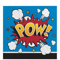 Superhero Slogans Beverage Napkins (16) - Party Zone USA