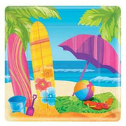Surf's Up Party Dessert Plates (8) - Party Zone USA