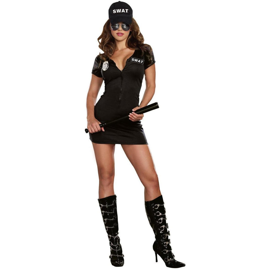 Swat Police Officer Women's Costume - Party Zone USA