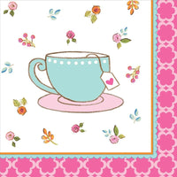 Tea Time Party Beverage Napkins (16) - Party Zone USA