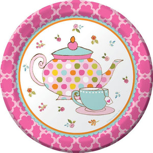 Tea Time Party Dessert Plates (8) - Party Zone USA