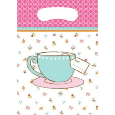 Tea Time Party Favor Loot Bags (8) - Party Zone USA