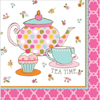 Tea Time Party Luncheon Napkins (16) - Party Zone USA