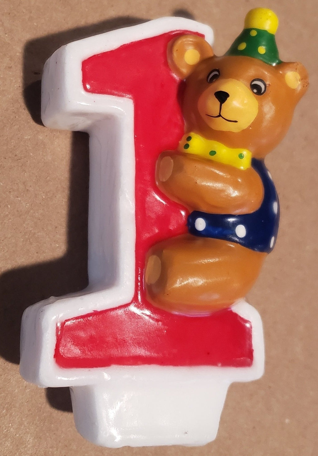 Teddy Bear 1st Birthday Candle - Party Zone USA
