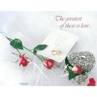 The Greatest of these is Love Wedding Bulletins - Party Zone USA
