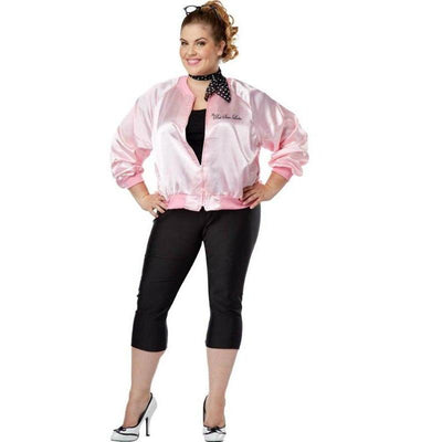 The Pink Satin Ladies Costume - Plus Size - Party Zone USA