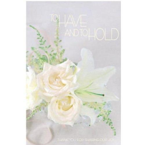 To Have and To Hold Wedding Bulletins - Party Zone USA