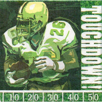 Touchdown Football Party Beverage Napkins (16) - Party Zone USA