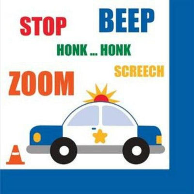Traffic Jam Beverage Napkins (16) - Party Zone USA