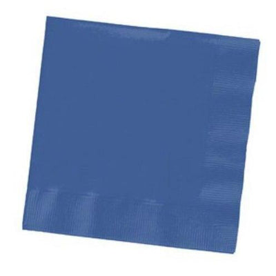 True Blue Beverage Napkins (30) - Party Zone USA