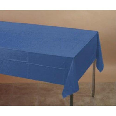 True Blue Plastic Table Cover - Party Zone USA