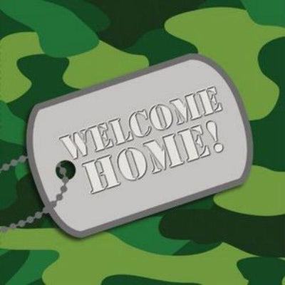 WELCOME HOME Camo Luncheon Napkins (16) - Party Zone USA