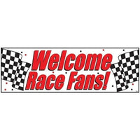 Welcome Race Fans Party Banner - Party Zone USA