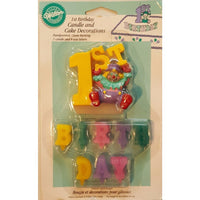 Wilton 1 Birthday Candle w/ 8 Wax Letters - Party Zone USA