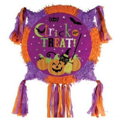 Witch's Crew Pull String Halloween Pinata - Party Zone USA