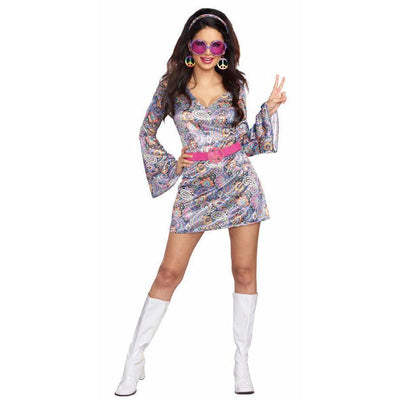 Women's 60s Love-Fest Hippie Costume - Party Zone USA