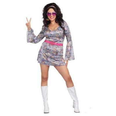 Women's 60s Love-Fest Hippie Costume - Plus - Party Zone USA