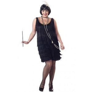Women's Fashion Flapper Costume - Plus Size - Party Zone USA