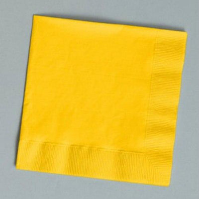 Yellow Beverage Napkins (30) - Party Zone USA