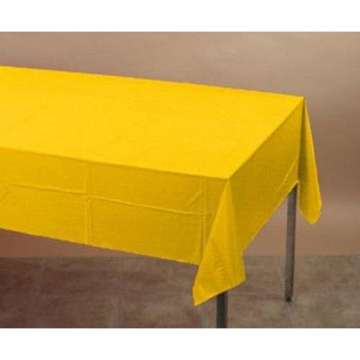 Yellow Plastic Table Cover - Party Zone USA