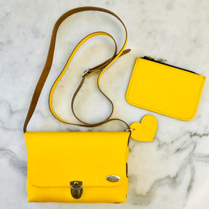 Bella Colori Colourful leather bags Yellow