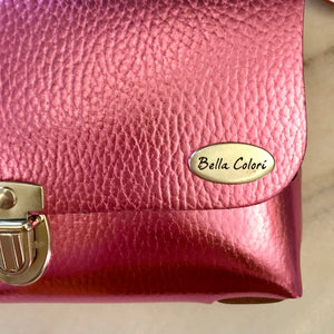 Bella Colori Colourful Metallic leather bags Hot Pink