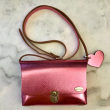 Load image into Gallery viewer, Bella Colori Colourful Metallic leather bags Hot Pink