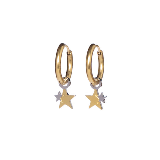 M'adam the Label Earrings stars duotone gold
