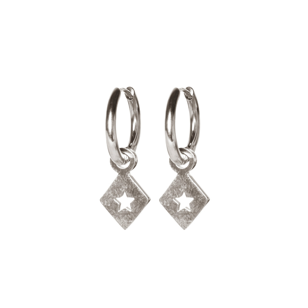 M'adam the label Earrings Triangle star steel