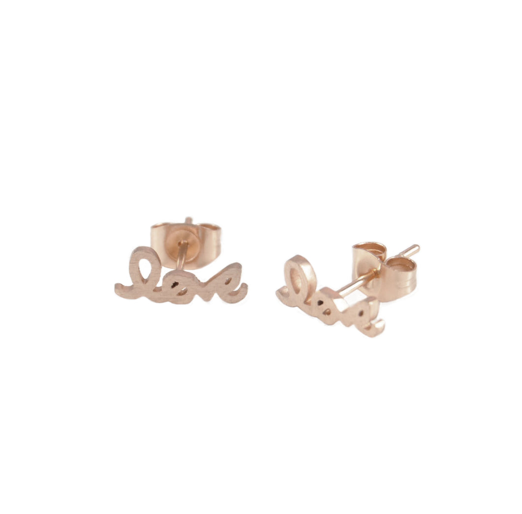 M'adam the label Earstuds Love rosegold
