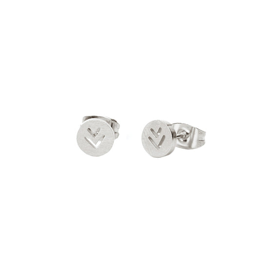 M'adam the label Earstuds round V steel