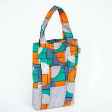 Load image into Gallery viewer, UNU Rotterdam tote bag en backpack for Kids green
