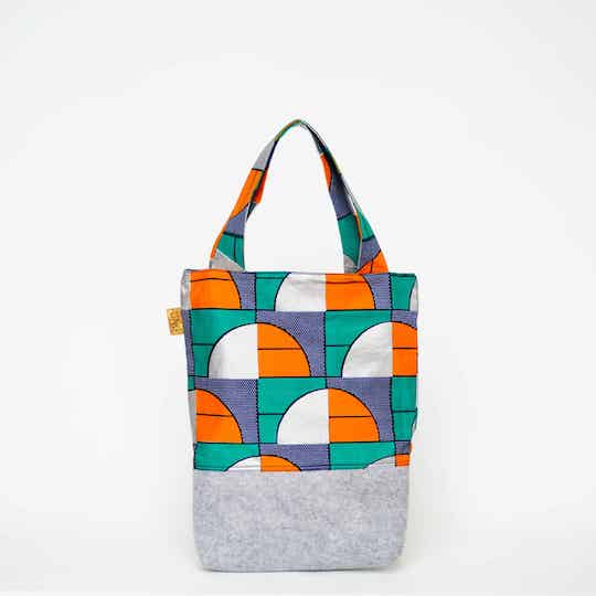 UNU Rotterdam tote bag en backpack for Kids green