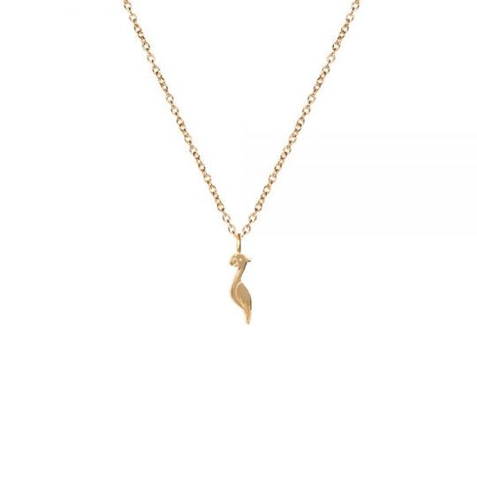 M'adam the label necklace Cockatoo gold short