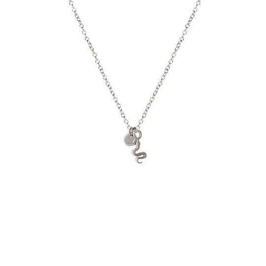 M'adam the label snake Necklace steel short