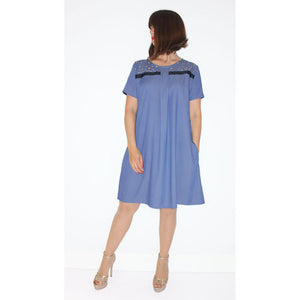 Studio Catta Flowy thin denim blue dress