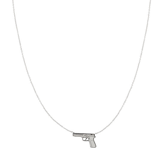 UHMAH Gun Necklace silver