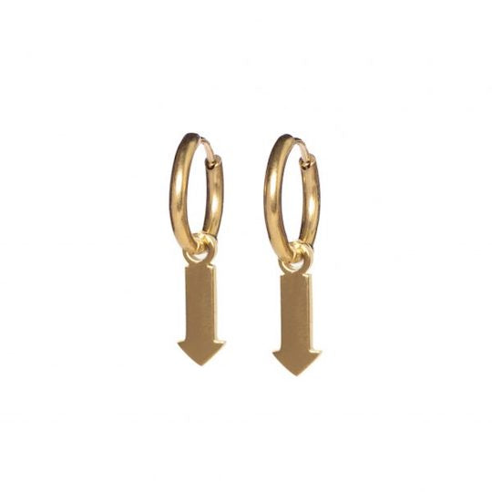 M'adam the label earrings arrow gold