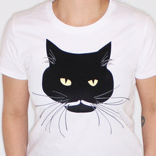 Load image into Gallery viewer, Studio Catta Panda the cat shirt white