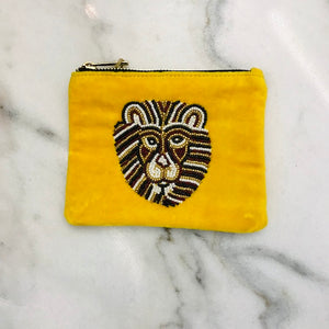 Bulu Brands Velvet wallet-etui with beaded lion