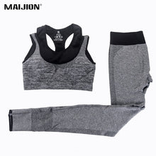 Load image into Gallery viewer, MAIJION 2Pcs Women Yoga Sets Fitness Sport Bra+Yoga Pants Leggings Set , Gym Running Sport Suit Set Workout Clothes for Female