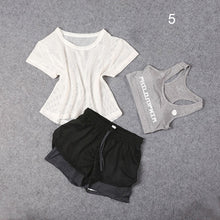 Load image into Gallery viewer, 3 PCS Set Women's Yoga Suit Fitness Clothing  Sportswear For Female Workout Sports Clothes Athletic Running Yoga Suit Sets