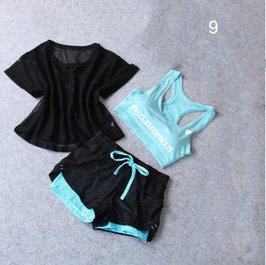 3 PCS Set Women's Yoga Suit Fitness Clothing  Sportswear For Female Workout Sports Clothes Athletic Running Yoga Suit Sets