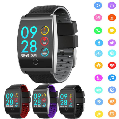 Smart Accessories Wristbands QS05 Smart Color Screen Calorie Exercise Heart Rate Pedometer Smart Watch Wearable Devices Aug15