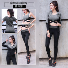 Load image into Gallery viewer, New Women Yoga Clothes 5 Piece Girl Yoga Sets 3 Piece Workout Sets Fitness Clothing Running Tracksuit Plus Size Jogging Tights